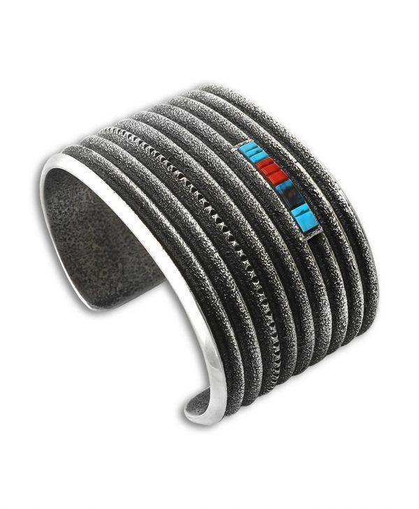A bracelet made by Harrison Jim Santa Fe Native American Jewelry