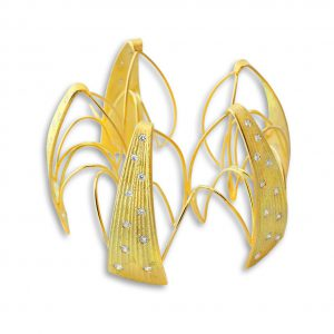 A stunning piece of architectural jewelry by Michael Roanhorse Santa Fe Native American Jewelry