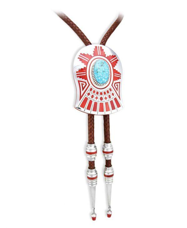 Vernon Haskie Bolo Tie Santa Fe Native American Jewelry.