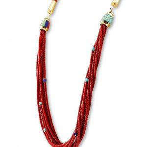 A multi-strand necklace by Victor Beck Native American Jewelry.
